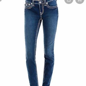 NWT True Religion Curvy Skinny BIG T Jeans - Sz 27